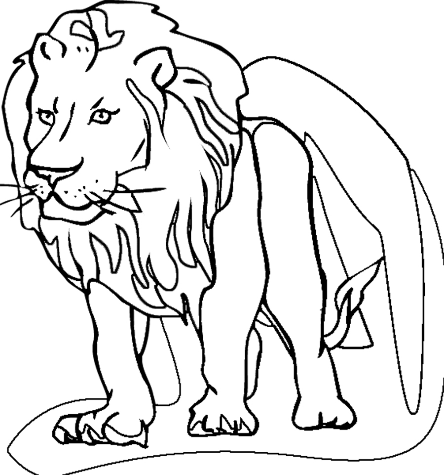 Free Coloring Pages Of I See A Lion